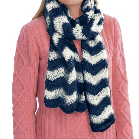 Scala Crocheted Zigzag Scarf (For Women)