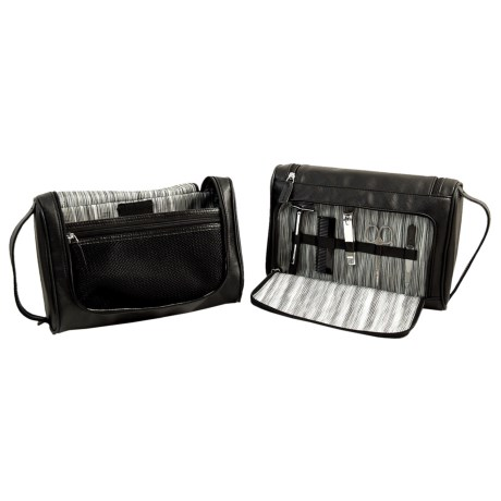 Bey-Berk International Manicure and Grooming Set with Hanging Toiletry Bag Set - 6-Piece