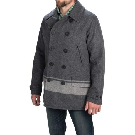 Woolrich Dock Worker Peacoat - Wool (For Men)