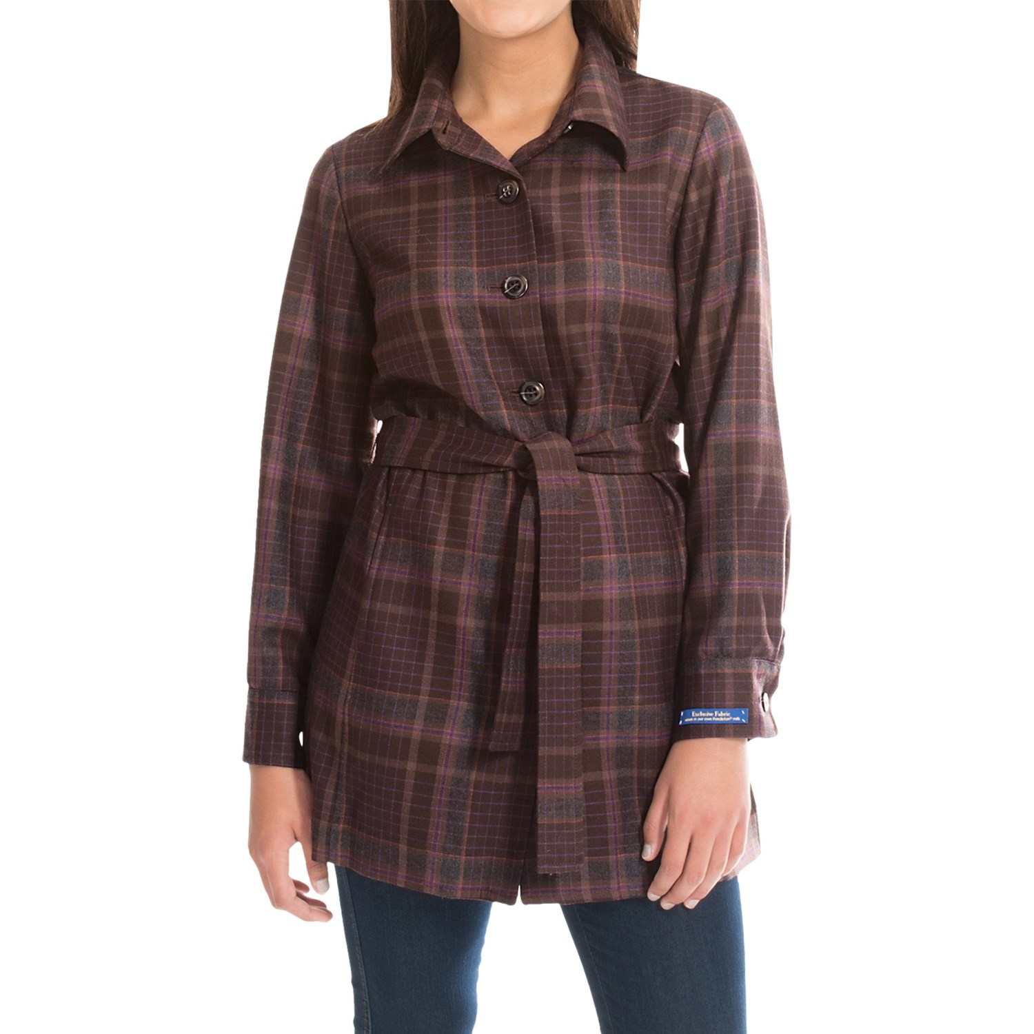 Plaid jackets for women