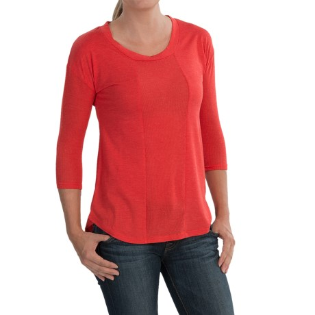 Dex High-Low Knit Shirt - 3/4 Sleeve (For Women)