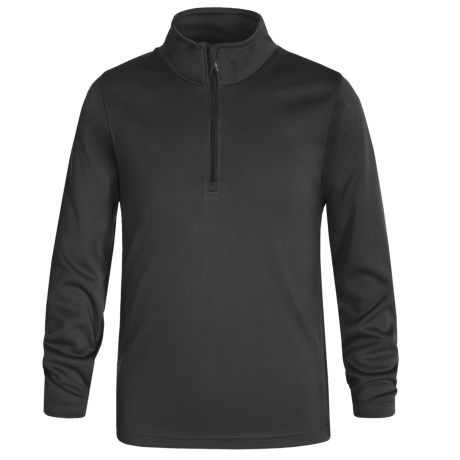 Meister Junior Drytek Shirt - Zip Neck, Long Sleeve (For Little and Big Kids)