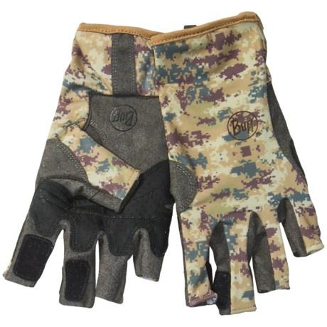 Buff Pro Series Angler 2 Gloves - UPF 50+, Fingerless (For Men and Women)