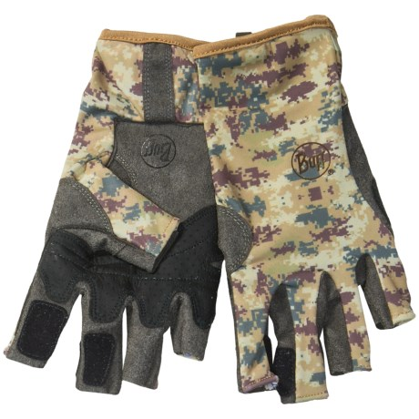 Buff Pro Series Angler 2 Gloves - UPF 50+, Fingerless (For Men and Women)