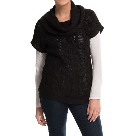 Parkhurst Cotton-Knit Turtleneck Sweater - Short Sleeve (For Women)