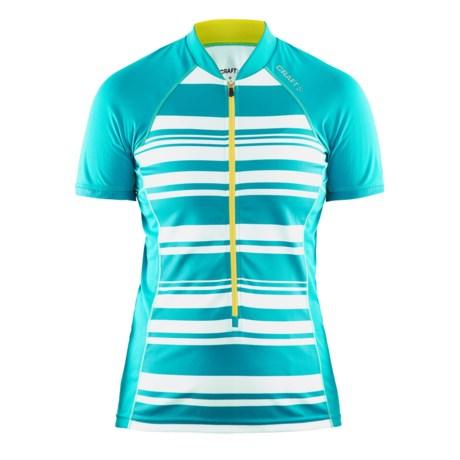 Craft Sportswear Craft Path Cycling Jersey - UPF 25+, Short Sleeve (For Women)