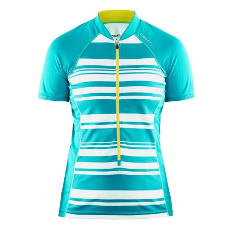Craft Path Cycling Jersey - UPF 25+, Short Sleeve (For Women)
