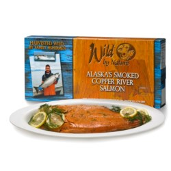 Wild by Nature Alaskan Salmon - 8 oz. Smoked Fillets