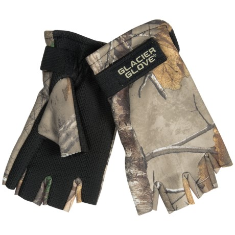 Glacier Gloves Fleece Gloves - Fingerless, Neoprene Palm (For Men and Women)