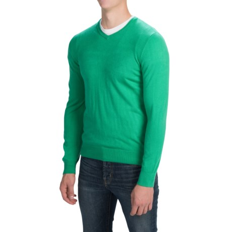 Solid V-Neck Sweater (For Men)