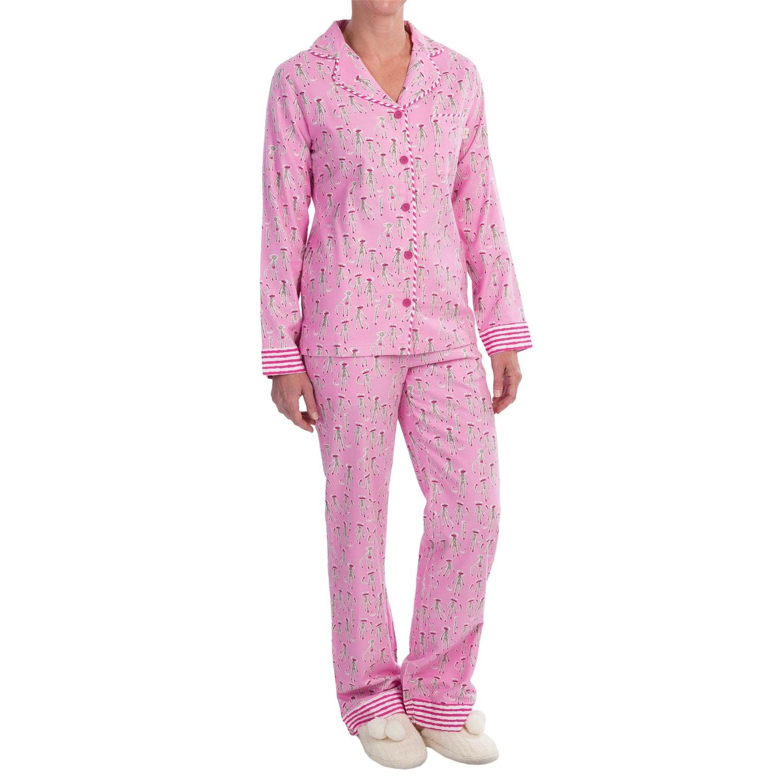 Munki Munki Printed Flannel Pajamas (For Women) 9848W ...