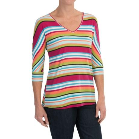 Aventura Clothing Letty Shirt - Organic Cotton, V-Neck, 3/4 Sleeve (For Women)