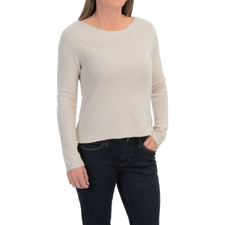 Hi-Lo Boat Neck Sweater (For Women)