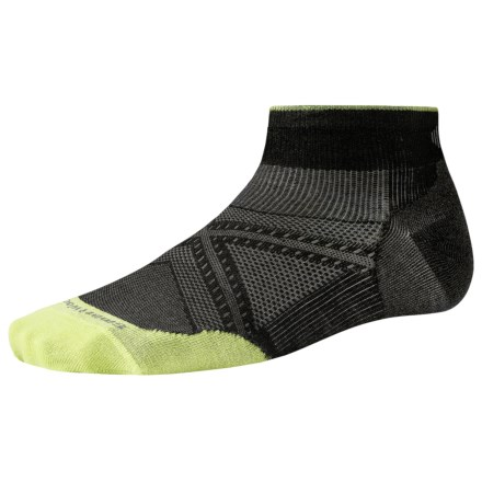 SmartWool PhD Run Ultralight Socks - Merino Wool, Below the Ankle (For Men and Women) in Black - 2nds