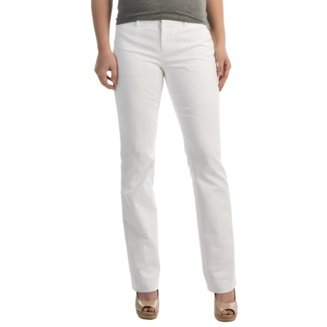 Stretch Cotton 5-Pocket Pants (For Women)