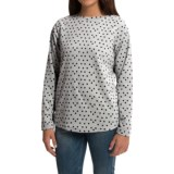 Fleece Shirt - Boat Neck, Long Sleeve (For Women)