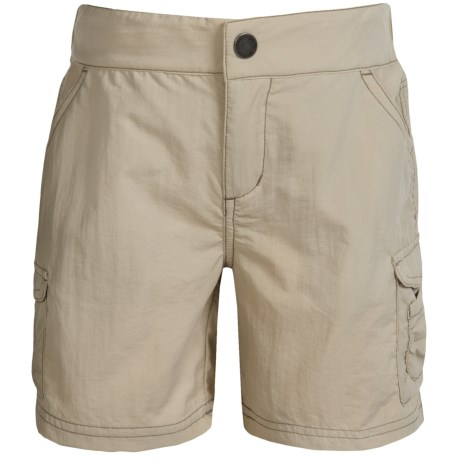 White Sierra Jr. Crystal Cove River Shorts - UPF 30 (For Little and Big Girls)