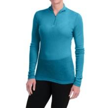 Icebreaker Everyday Bodyfit 200 Base Layer Top - UPF 20+, Merino Wool, Zip Neck, Long Sleeve (For Women) in Cruise - Closeouts