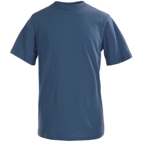 Solid Cotton T-Shirt - Short Sleeve (For Little and Big Boys)