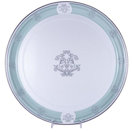 """Golden Rabbit Queens Court Collection Enamelware Medium Tray - 15"""""""