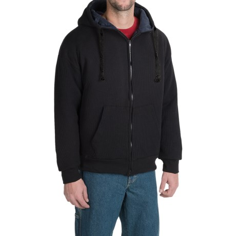National Outfitters Thermal Zip Hoodie - Quilted Lining, Insulated (For Men)