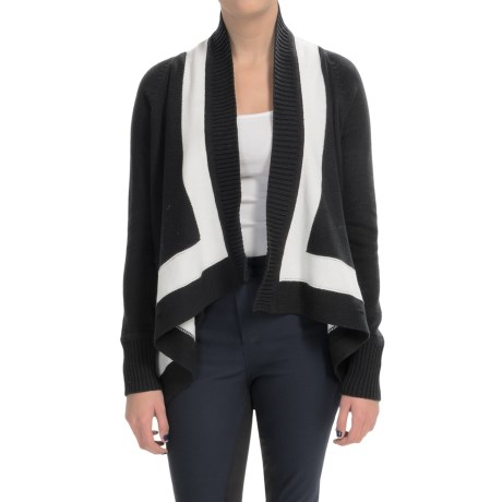Joan Vass Shawl Collar Cardigan Sweater (For Women)