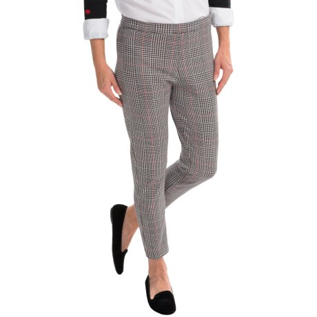 Joan Vass Plaid Pull-On Pants (For Women)