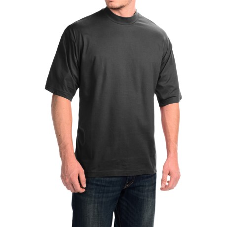 Mock Turtleneck - Supima® Cotton, Short Sleeve (For Men and Big Men)