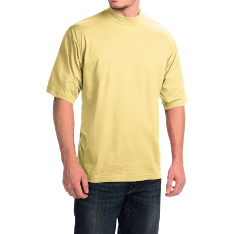 Mock Turtleneck - Supima® Cotton, Short Sleeve (For Men and Big Men)
