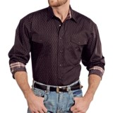 Panhandle Slim Select Peached Poplin Print Shirt - Snap Front, Long Sleeve (For Men)