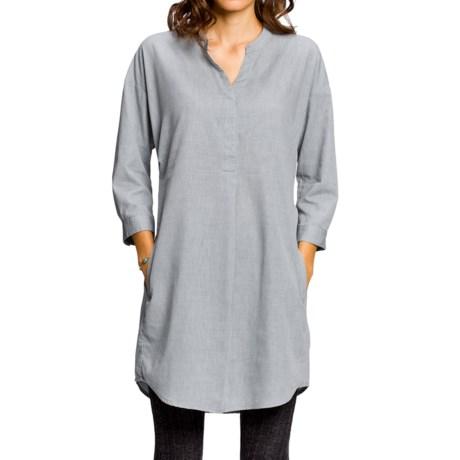 NAU Twisted Shirt Dress - Organic Cotton-TENCEL®, Long Sleeve (For Women)