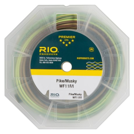 Rio Intouch Pike and Musky Floating-Intermeditate Fly Line - Weight Forward, 100'