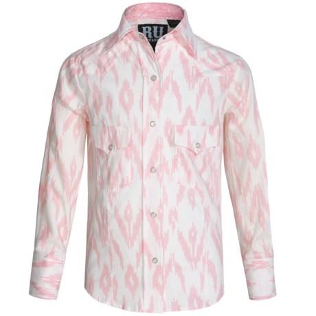 RU Apparel Ikat Western Shirt - Snap Front, Long Sleeve (For Big Girls)