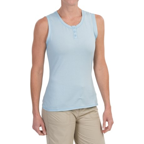 White Sierra Pinstripe Tank Top (For Women)