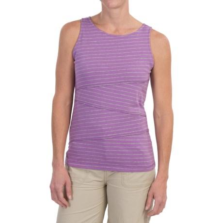 White Sierra Shadow Striped Tank Top (For Women)
