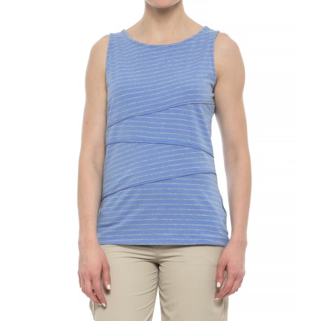 White Sierra Shadow Striped Tank Top (For Women)