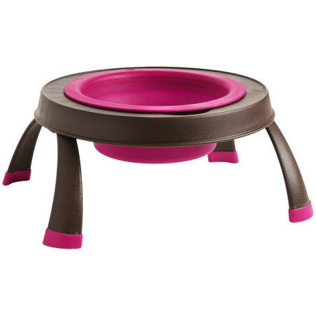 Dexas Popware Single Elevated Pet Bowl - Large, Collapsible