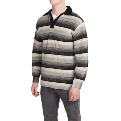 Velour Striped Shirt - Long Sleeve (For Men)