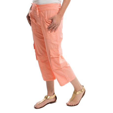 Scully Crinkle Cargo Capris (For Women)