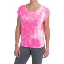 The North Face Kokomo Burnout T-Shirt - Short Sleeve (For Women) in Glo Pink - Closeouts