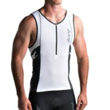 Zoot Sports High-Performance Tri Tank Top - UPF 50+, Zip Neck (For Men)
