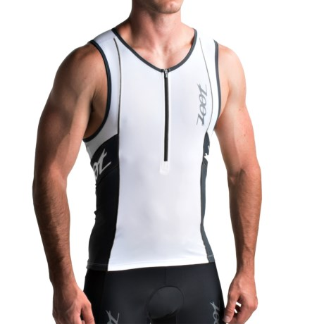 Zoot Sports High-Performance Tri Tank Top - UPF 50+, Zip Neck (For Men)