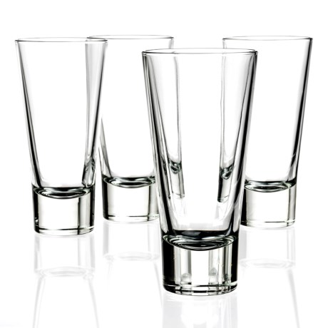 Bormioli Rocco Ypsilon Long Drink Highball Glasses - 10.5  fl.oz., Set of 4
