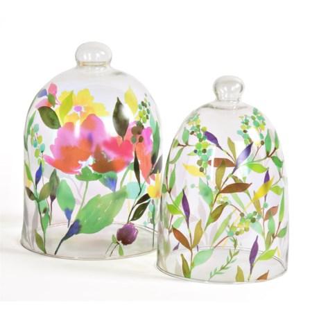 Studio M Fleur Glass Cloches - Set of 2