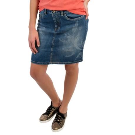 Life is good® Denim Pencil Skirt - Bleach Wash (For Women)