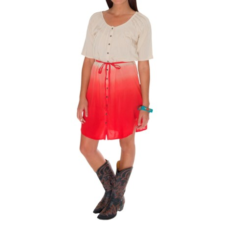 Southern Thread Starburst Dress - Elbow Sleeve (For Women)
