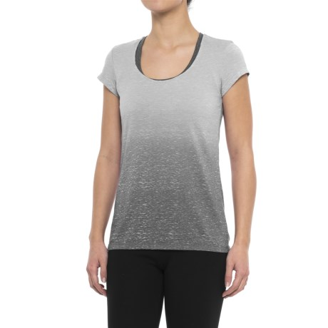 Earth Yoga Cross-Back Burnout T-Shirt - Organic Cotton, Short Sleeve (For Women)
