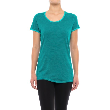 SmartWool NTS 150 Micro Striped Base Layer Top - Merino Wool, Short Sleeve (For Women)