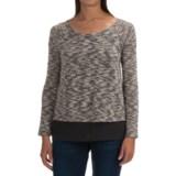 Cowgirl Up Slub-Knit and Chiffon Sweater (For Women)