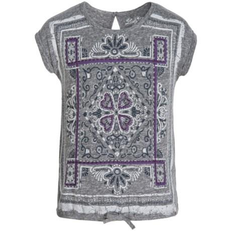 Lucky Brand Carrie Scarf T-Shirt - Short Sleeve (For Big Girls)
